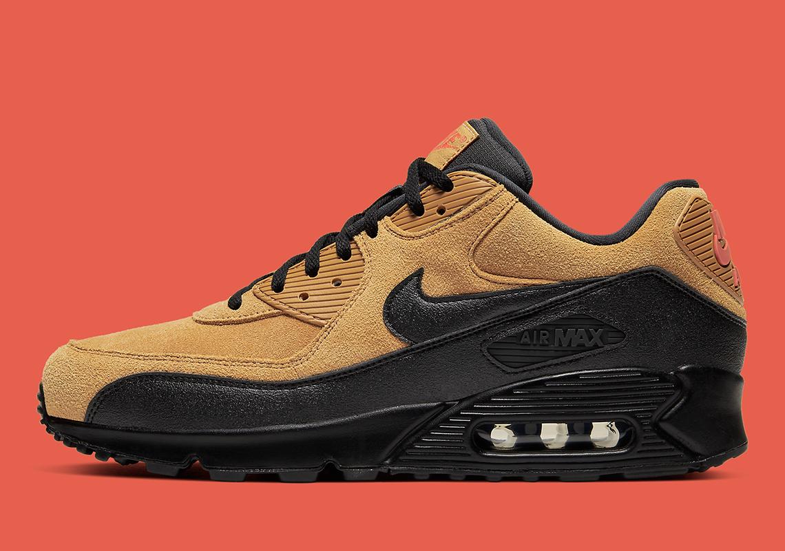 low priced 8b402 b345c Nike Air Max 90 Wheat Black AJ1285-700 Release Info ...