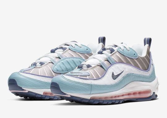 "The Nike Air Max 98 ""Snakeskin"" Emerges With Seafoam and Pink Accents For Women"
