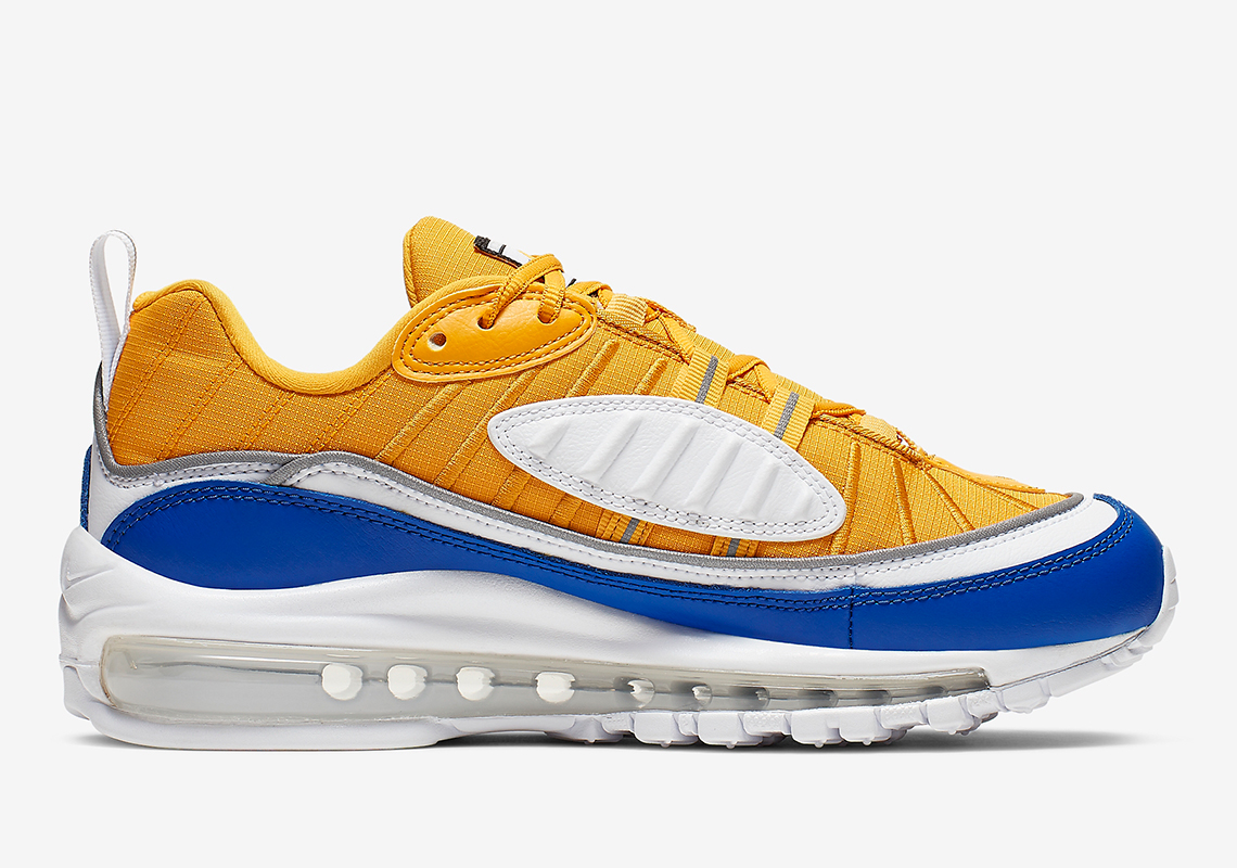 brand new 2a9b5 a8f61 Nike Air Max 98 Yellow White Blue AT6640-700 Release Info ...