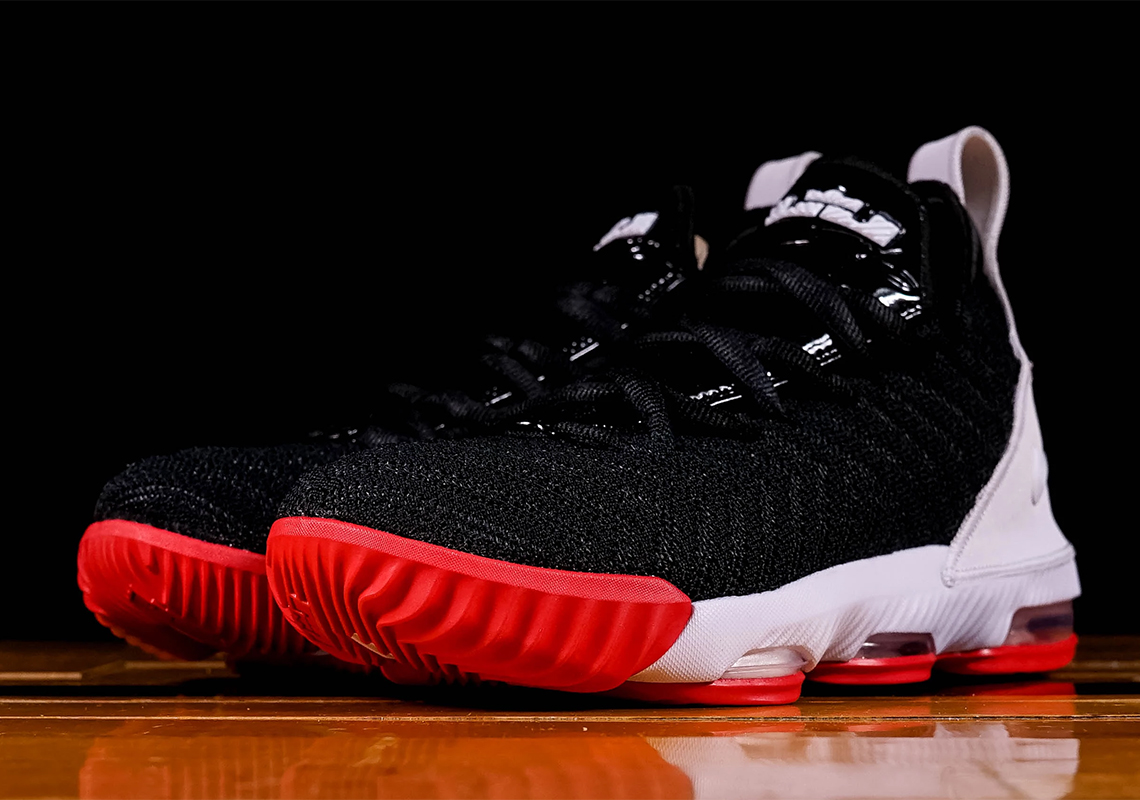 premium selection b515d 01c74 Nike LeBron 16 Bred Kids AQ2465-106 Release Date ...