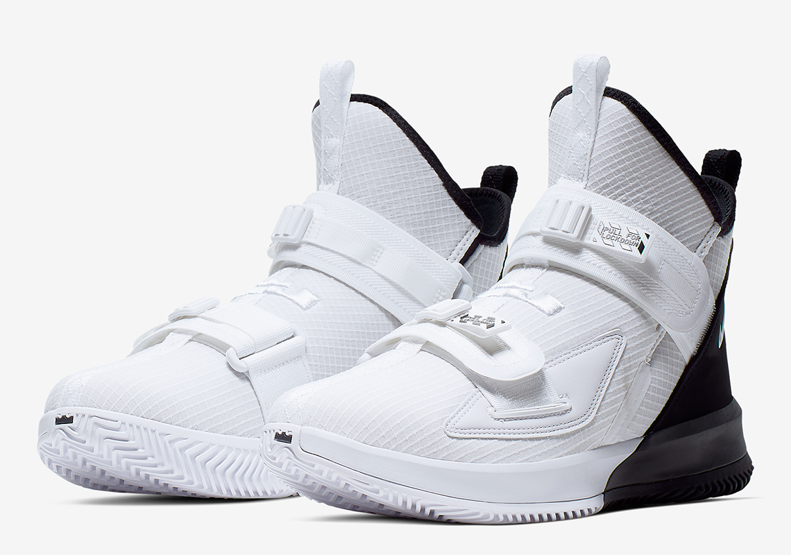 new product f9a45 f0ee8 Nike LeBron Soldier 13 Black White | SneakerNews.com