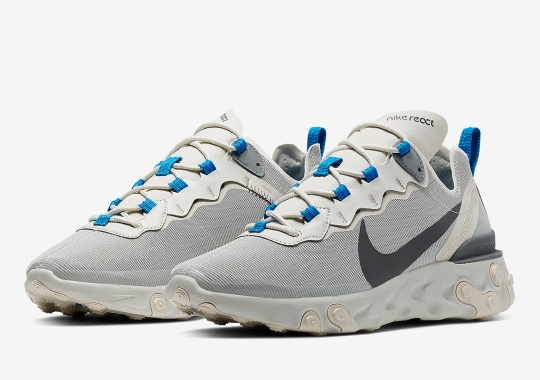 """The Nike React Element 55 Appears In A """"Light Bone"""" Colorway"""