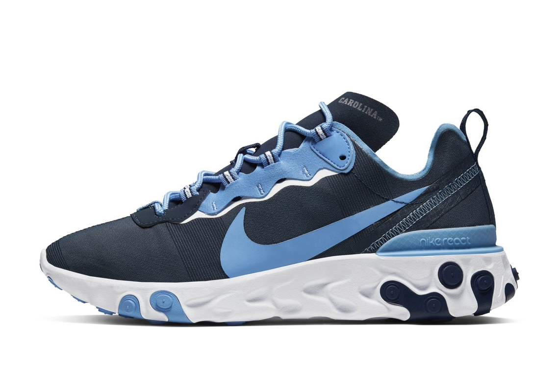 Nike React Element 55 UNC North