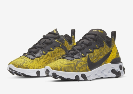 Snakeskin Patterns Appear On The Nike React Element 55