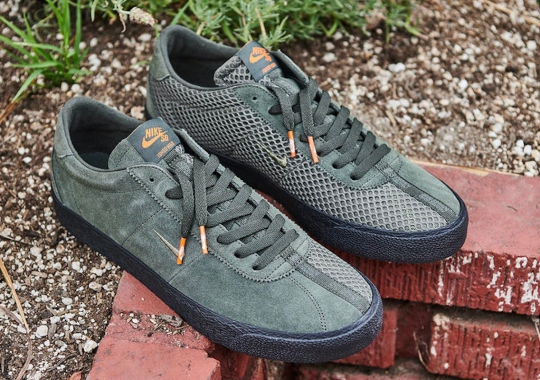 "Ishod Wair's Nike SB Bruin ISO ""Orange Label"" Features Alternating Suede And Mesh Panels"