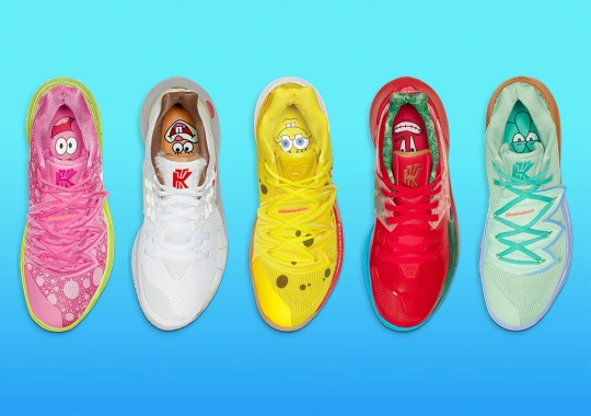 The SpongeBob SquarePants x Nike Kyrie Collection Releases Tomorrow