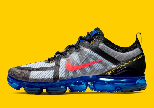 This Sporty Nike Vapormax 2019 Features Pinstriped Underlays