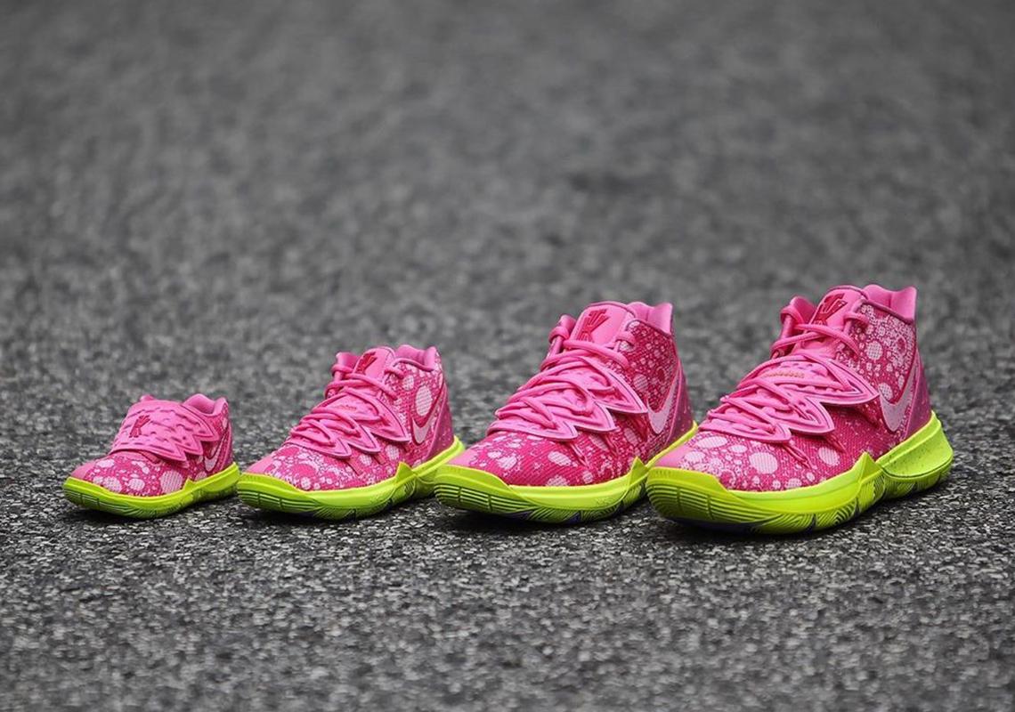 SpongeBob Nike Kyrie Full Family Sizes