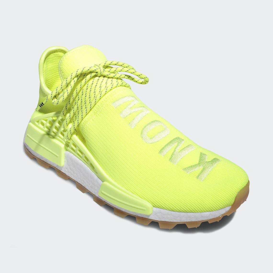Pharrell adidas NMD Hu Trail Know/Soul Neon EF2335 ...