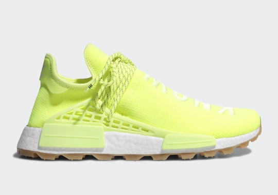"Pharrell's adidas NMD Hu Trail ""Know/Soul"" Is Flooded In Neon"