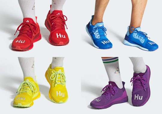 Pharrell And adidas Present Vivid Color Options For The Monochromatic SOLARHU Glide