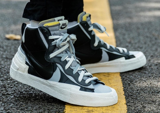 Detailed Look At The sacai x Nike Blazer In Black
