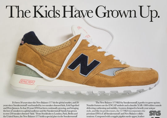 Sneakersnstuff And New Balance 577 Celebrate Their Growth Through The Years With Limited Collaboration