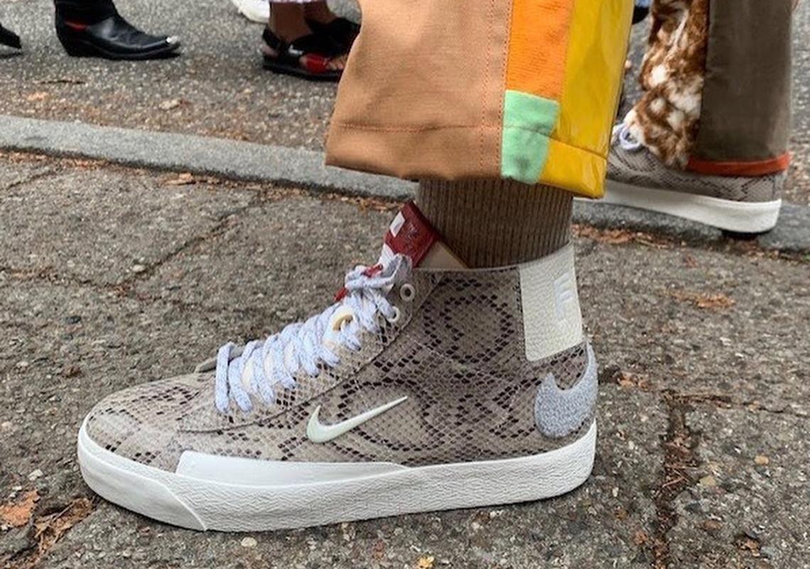 pre order timeless design half price Soulland Nike SB Blazer Mid Snakeskin First Look ...