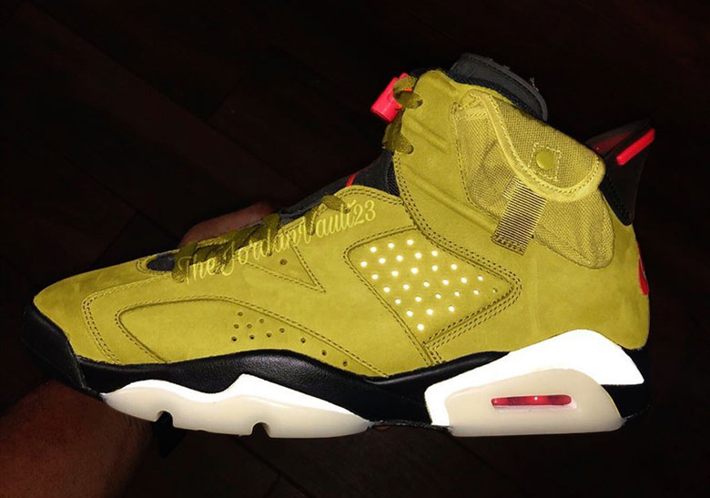 cheap for discount b9158 ef0d3 Air Jordan 6 Travis Scott - Yellow PE   SneakerNews.com