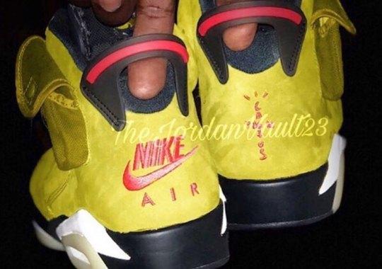 Closer Look At Travis Scott's Air Jordan 6 In Yellow