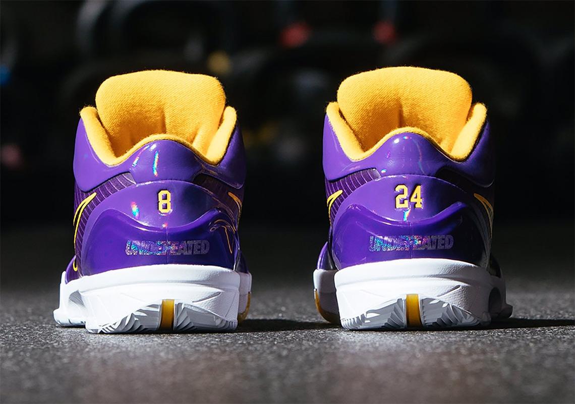 Undefeated Nike Kobe 4 Protro Lakers