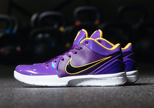 UNDEFEATED x Nike Kobe 4 Protro Emerges In Lakers Colors For Kyle Kuzma