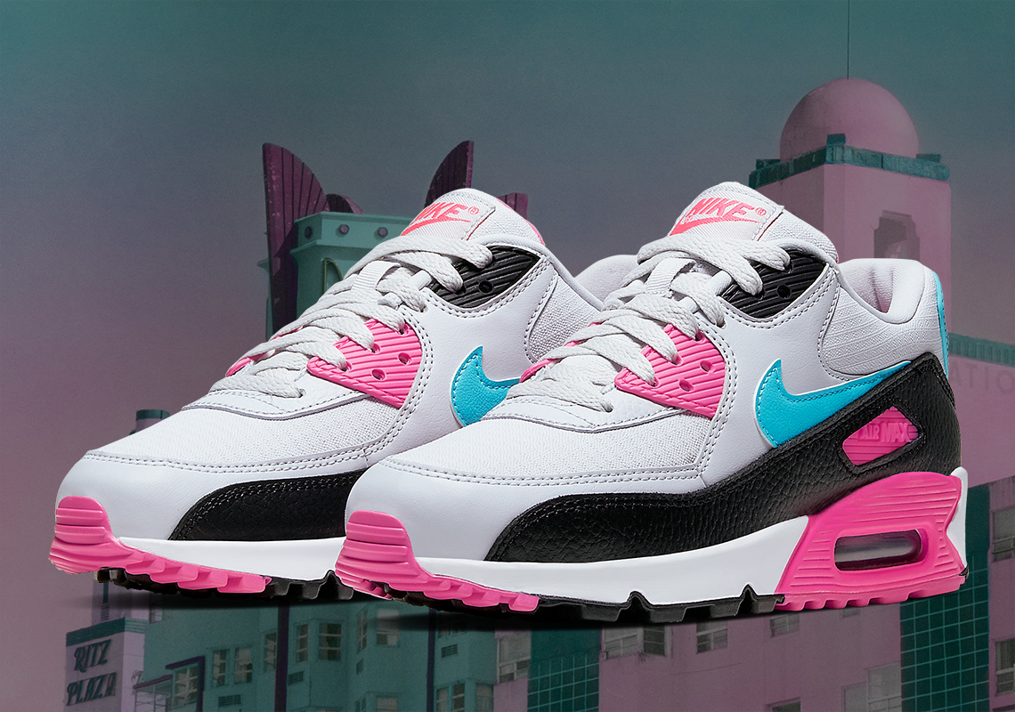 Nike Air Max 90 Pink Teal South Beach |