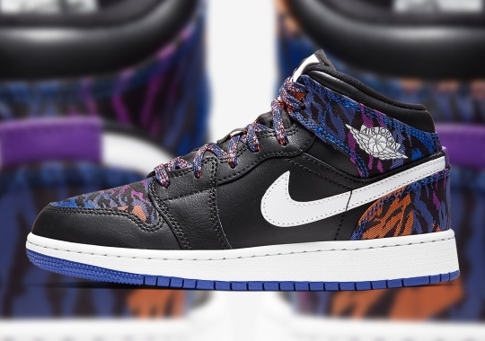 The Air Jordan 1 Mid Gets Wild With Multi-Colored Tiger-Striped Patterns