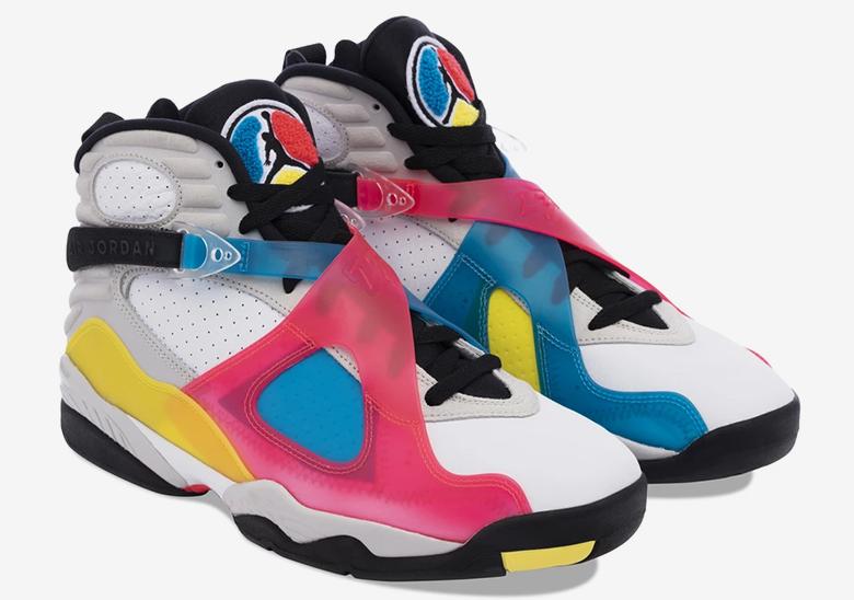 Air Jordan 8 Pink Blue Yellow Bq7666 100 Release Info Sneakernews Com