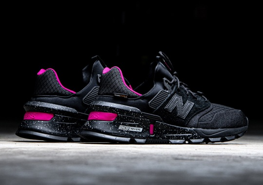 The New Balance 997S Cordura Appears In Black And Neon Pink