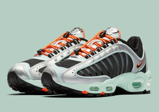This Nike Air Max Tailwind IV Features Lace Toggles And Silver Foil Tongues