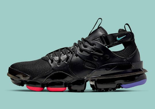 The Nike Vapormax D/MS/X Arrives In Black With Subtle Neon Accents