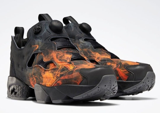The Reebok Instapump Fury Gets A Flaming Graphic Print