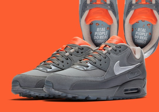 The Basement Further Expands Its Nike Air Max 90 Collaboration With A Grey And Orange Colorway