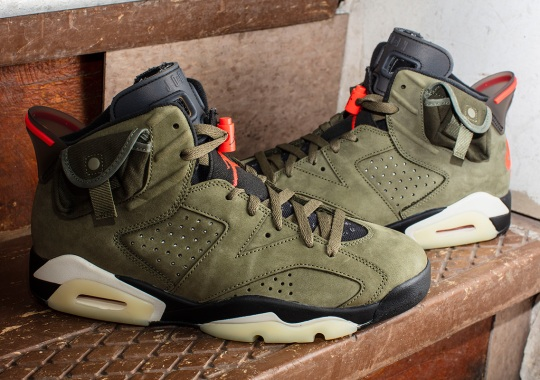 Travis Scott Adds Stow Pockets And Canvas To The Air Jordan 6