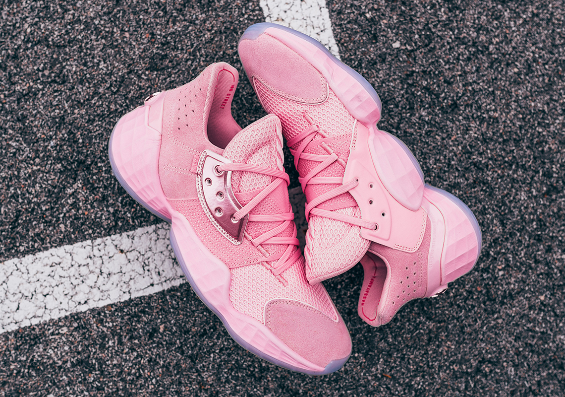 harden pink shoes