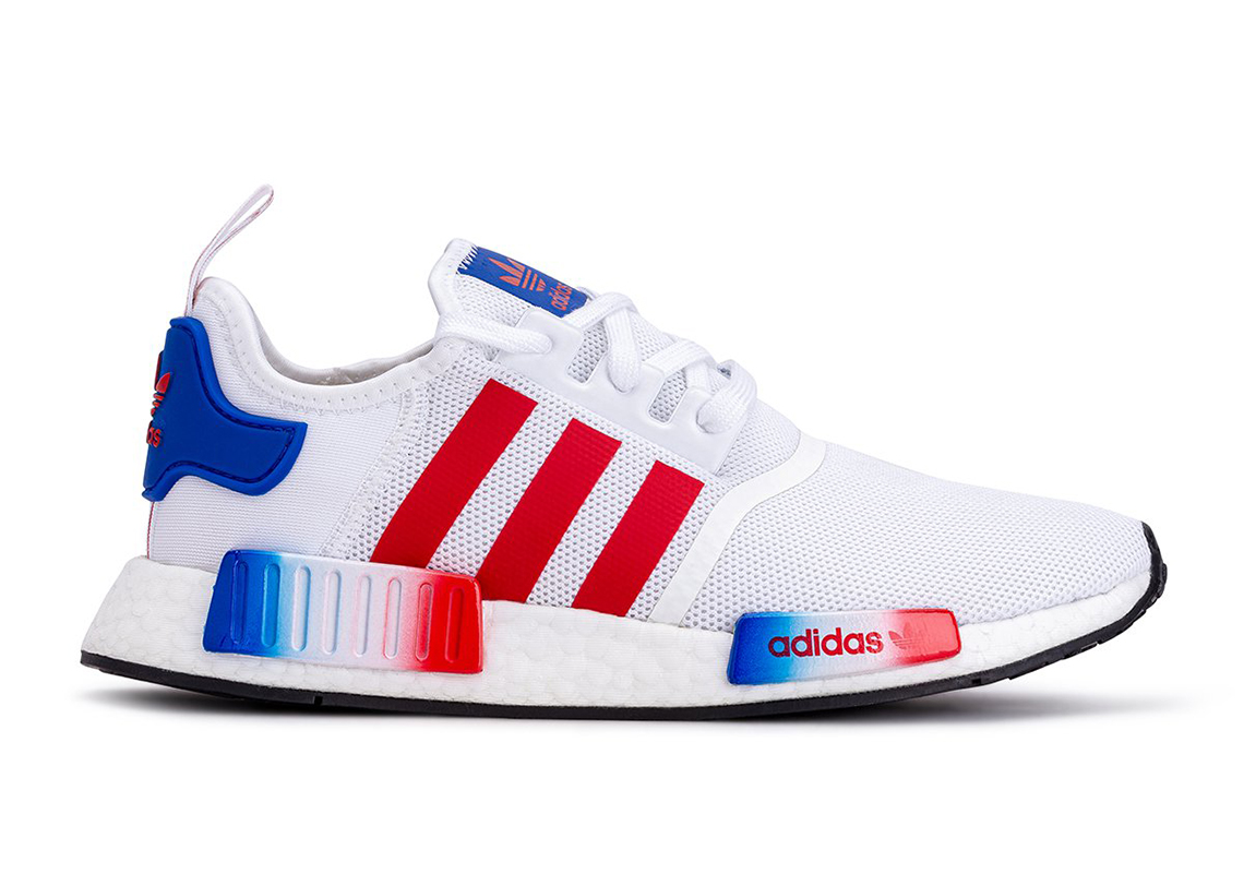adidas nmd blue and red