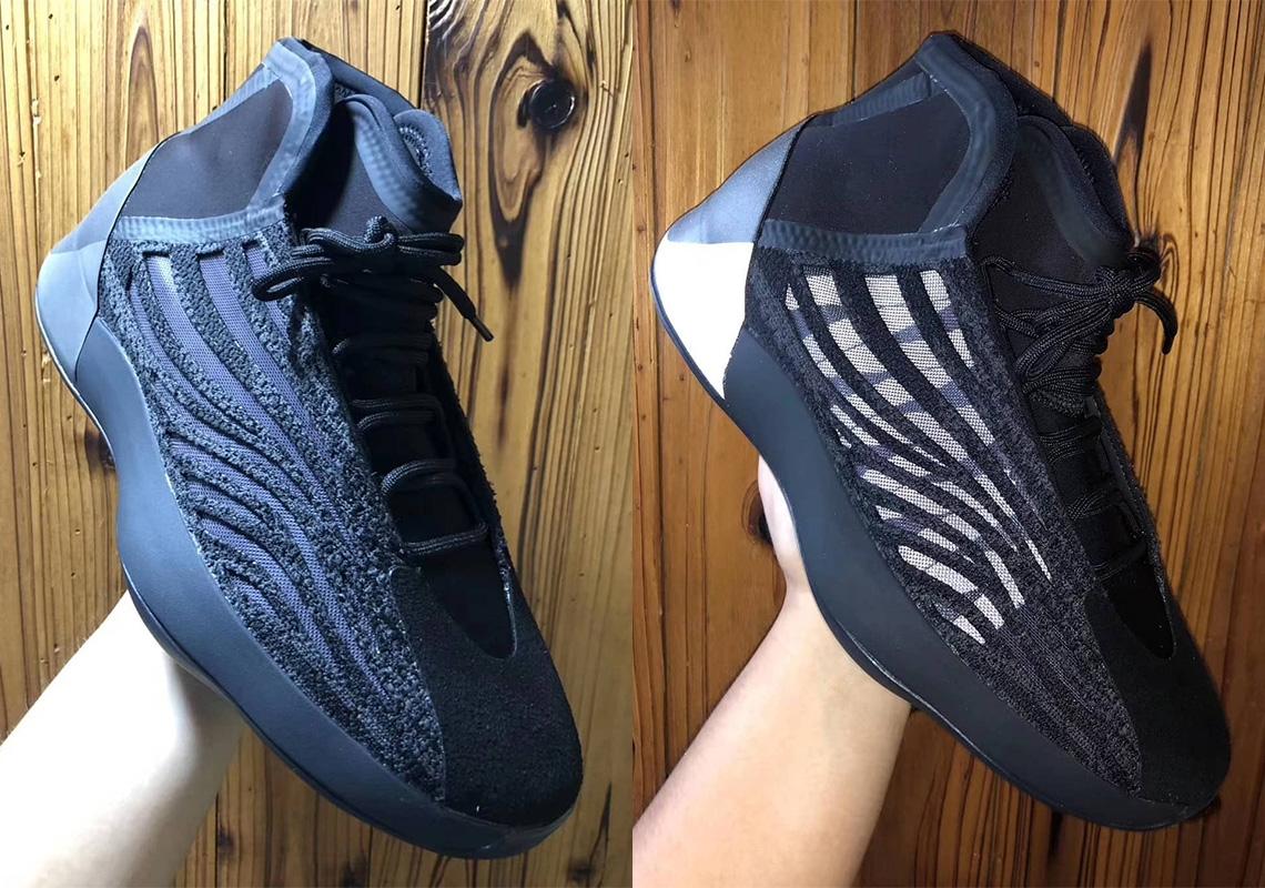 sale retailer 3d961 9eebb adidas Yeezy Basketball Shoes Black Release Info ...