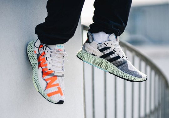 "The adidas ZX 4000 4D ""I Want, I Can"" Alternates Colored Text"