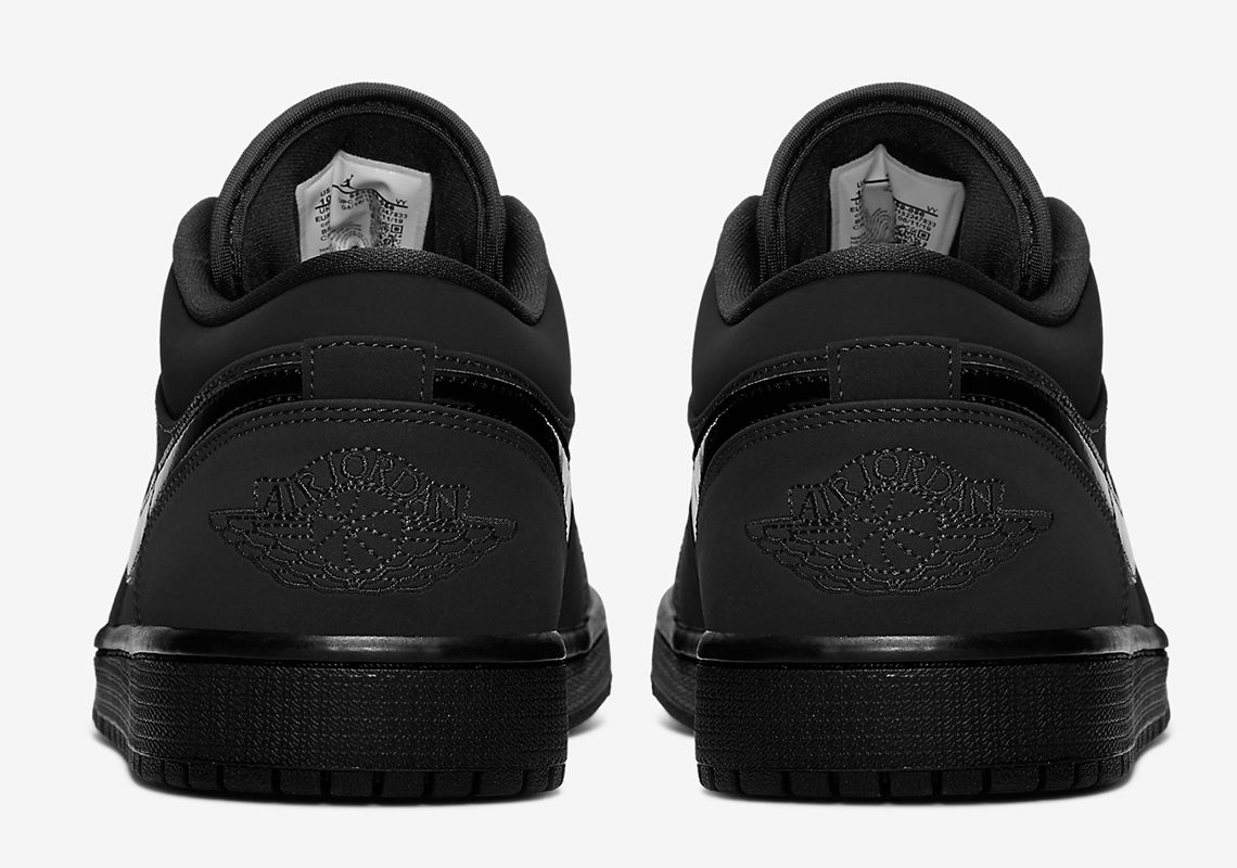 """Air Jordan 1 Low """"Triple Black"""" Offers Up A Stealthy Aesthetic: Official Photos"""