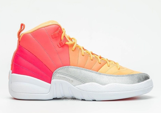 Upcoming Air Jordan 12 For Girls Utilizes Pink, Punch And Mango Hues