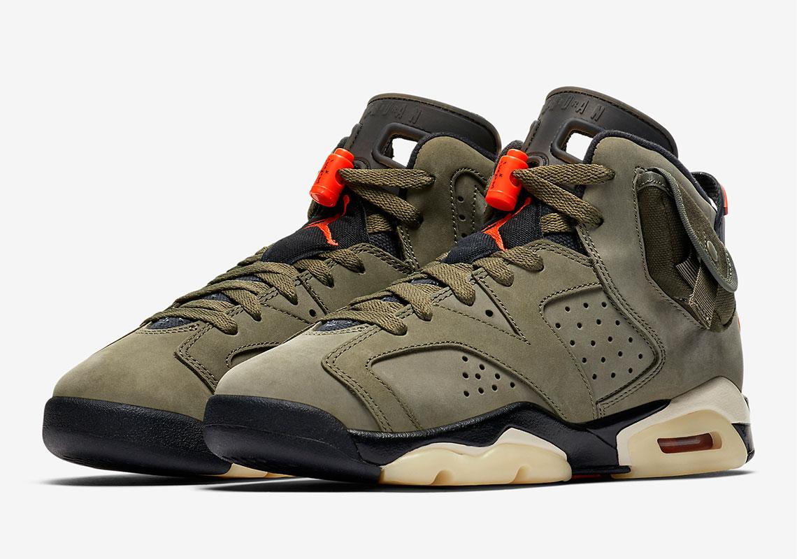 Jordan 6 Travis Scott Kids Shoes GS PS