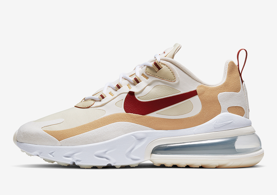 Nike Air Max 270 React Red Beige AT6174-700 | SneakerNews.com