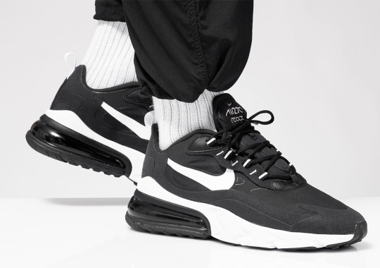 The Nike Air Max 270 React Gets A Clean Black and White Colorway