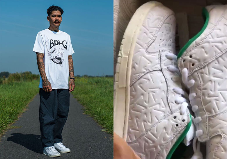 Ben G Nike SB Dunk Low White Green | SneakerNews.com