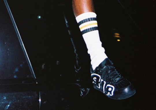 ASAP Rocky Shows Off The Cactus Plant Flea Market x Nike Air Force 1 In A Black Colorway