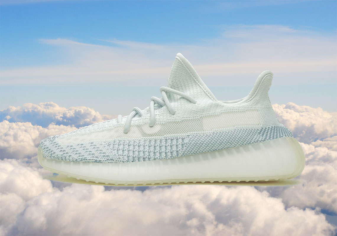sneakers for cheap c5a76 a3ffa Cloud White Yeezys - Full Release Details | SneakerNews.com