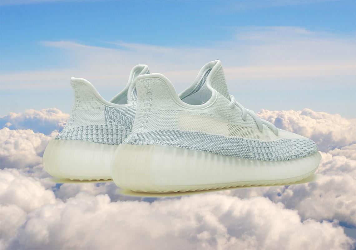 Cloud White Yeezys - Full Release