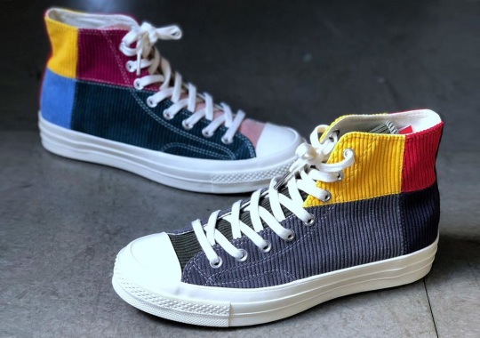 Converse Outfits Two Exclusive Chuck 70s With Multicolor Corduroy Patchwork