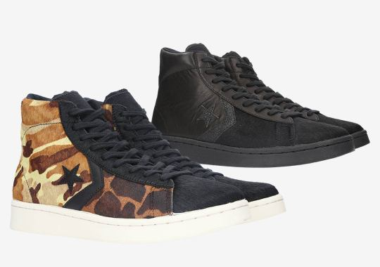 The Converse Pro Leather Adds Lux Pony Hair Uppers