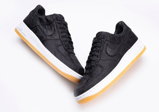 Fragment Dresses Up The Regal CLOT x Air Force 1 In All Black