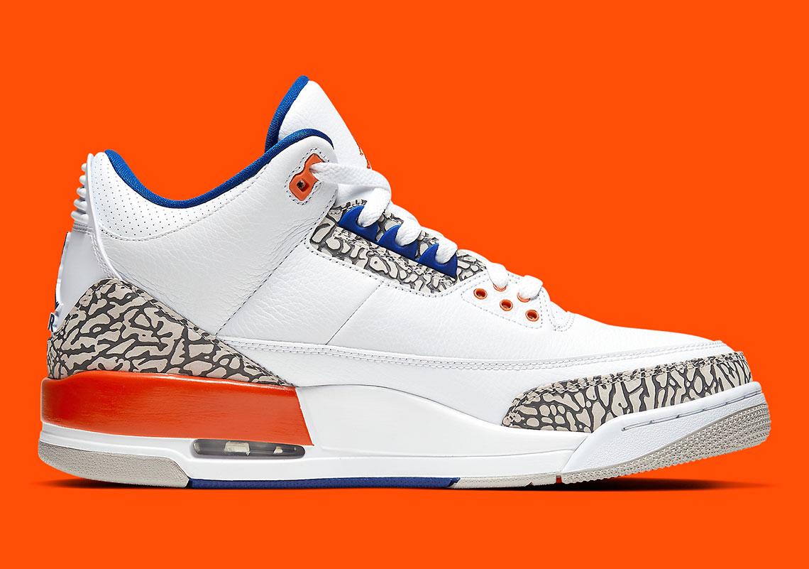 separation shoes 59cfc 9d6d4 Jordan 3 Knicks Orange/Blue - Store List | SneakerNews.com