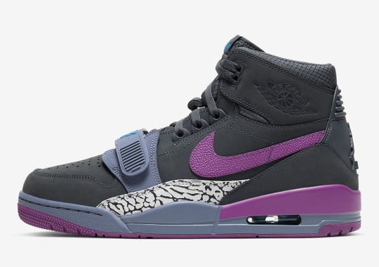 The Jordan Legacy 312 Emerges With Dark Grey Suede And Purple Accents