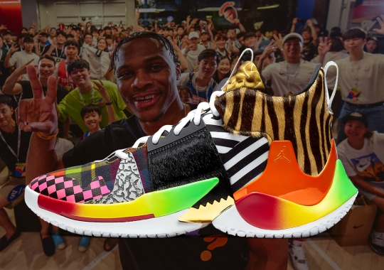 Russell Westbrook Embraces The Chaos With A Patchworked Jordan Why Not Zer0.2